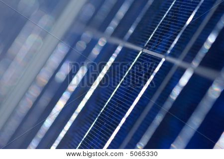 Solar Panel Extreme Close Up