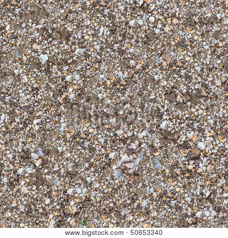 Seamless Texture of Fragment Mixed Soil.