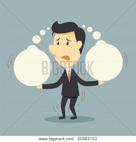 Businessman Bears Think Bubble