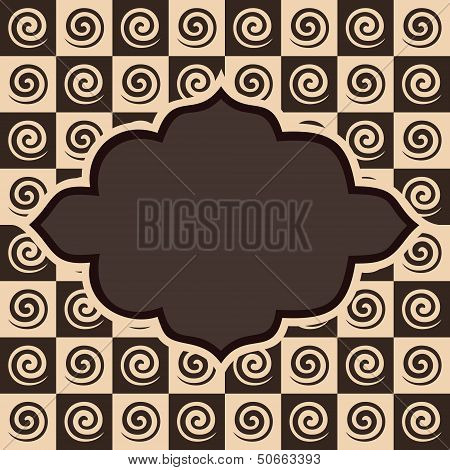Retro spiral and square pattern vintage