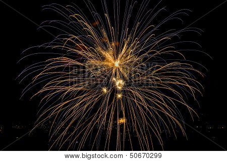Blue And Yellow Firework