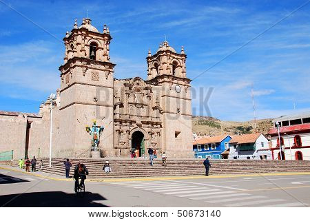 The Cathedral Baselica San Carlos Borromeo or Puno Cathedral