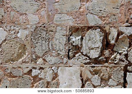 Porous stones wall