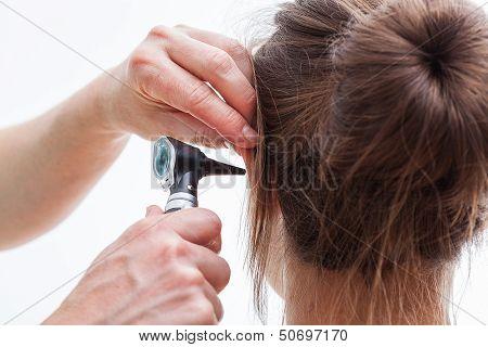 Ear Examining, Isolated