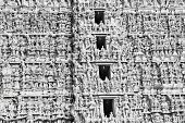 Different gods on Meenakshi temple facade, Madurai poster
