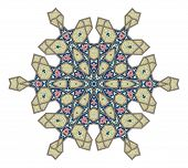 Arabic middle eastern floral pattern motif based on Ottoman ornament poster