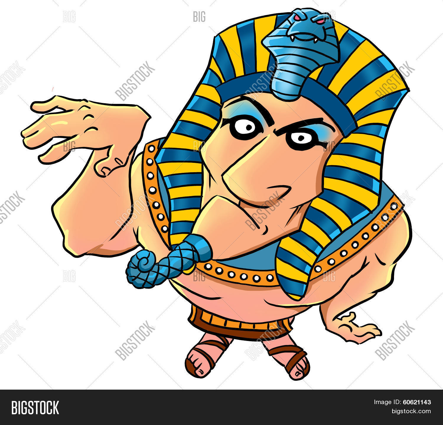 Funny Pictures About Egypt: Funny Cartoon Egyptian Pharaoh Image & Photo