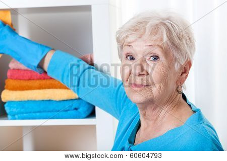 Senior Woman During Household Chores