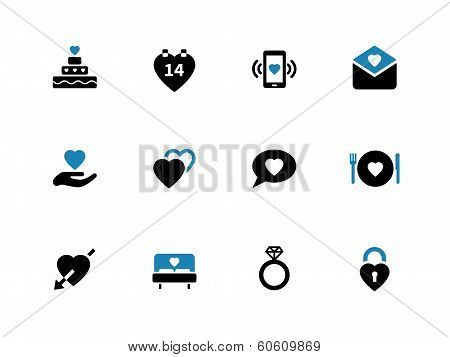 Love duotone icons on white background.
