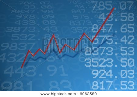 stock quotes and stock market diagram in 3D poster