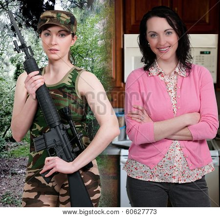 Woman Military Mom