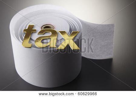 tax alphabets o the adding machine tape