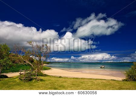 Beautiful deserted beach on remote Tropical Island