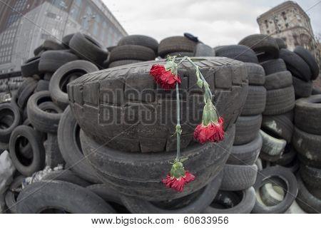 Commemoration of  Evromaydan victims.