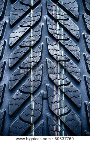 Fragment Of New Vehicle, Car Tyre, Tire.