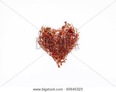 Saffron Shaped Into The Shape Of A Heart
