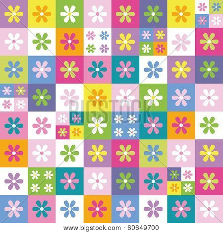 colorful flowers collection background