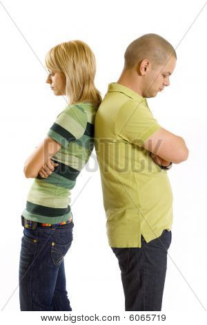 Girl And Boy After Having An Argument