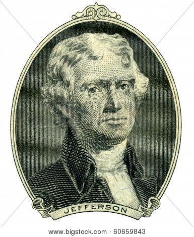 President Thomas Jefferson Portrait (clipping Path)