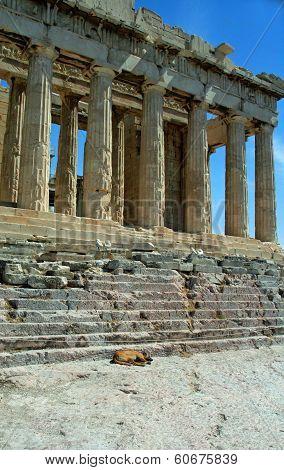 Parthenon building, Athenian Acropolis, Athens, Greece.
