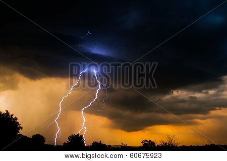 Electric Sunset Lightning