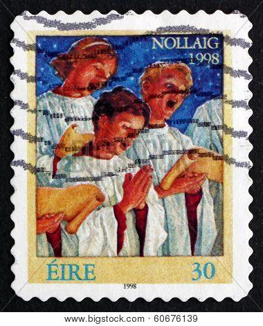 Postage Stamp Ireland 1998 Choir Singers, Christmas
