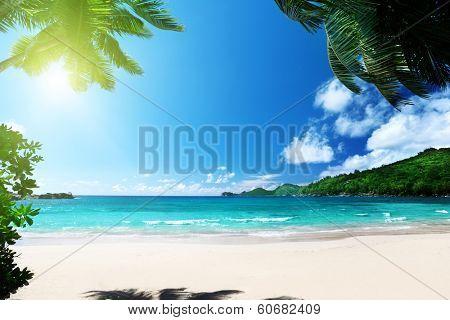 beach Takamaka, Mahe island, Seychelles