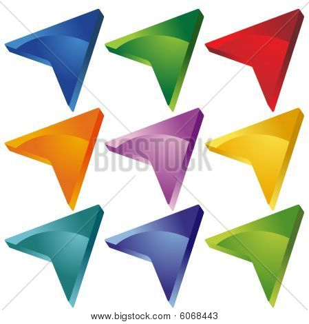 3D Arrow Icons