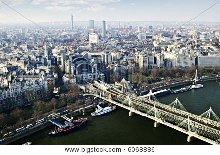 Hungerford Bridge Seen From London Eye