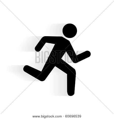 Vector Running Human Icon