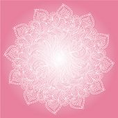 monochrome pink abstract hand-drawn ornament. Use as backdrop poster