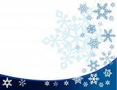 Snowflakes on white background vector illustration art poster
