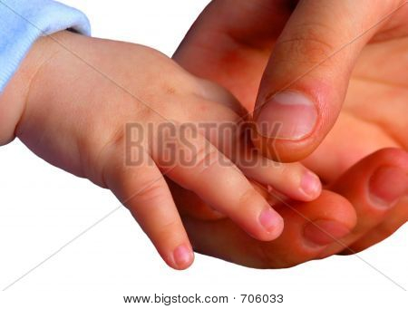 Mother's And Baby's Hands