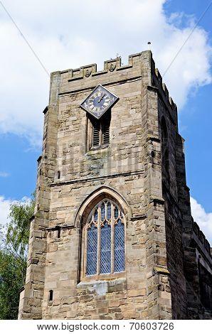 St James church tower, Warwick.
