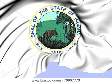 State Seal Of Indiana, Usa.