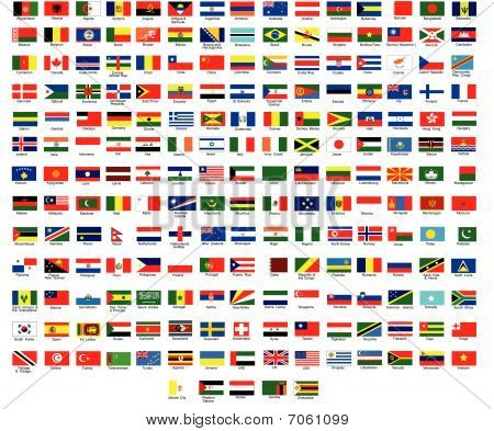 Vector Flags of all countries