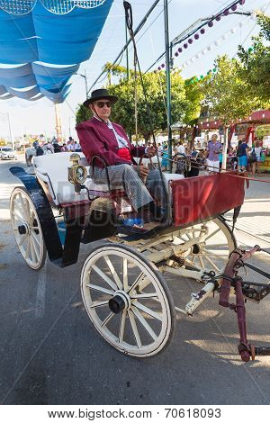 Coachman In Old Carriage