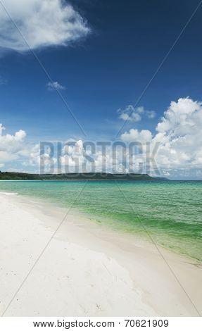 Sok San Area Of Long Beach In Koh Rong Island Cambodia