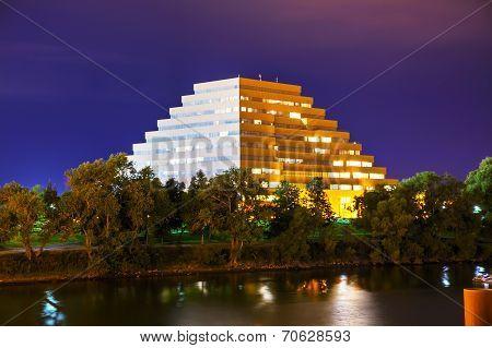 The Ziggurat Office Buiding In Sacramento