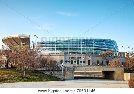 Soldier Field Stadium In Chicago