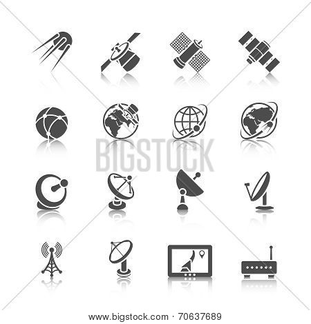 Satellite Icons Set