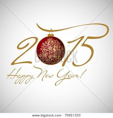 2015 happy new year vector art