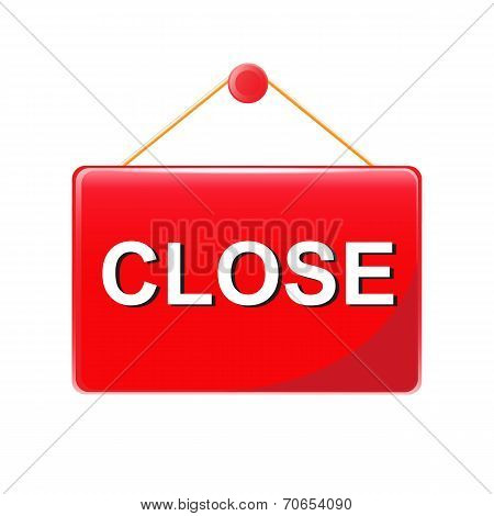 Red Closed Sign Vector