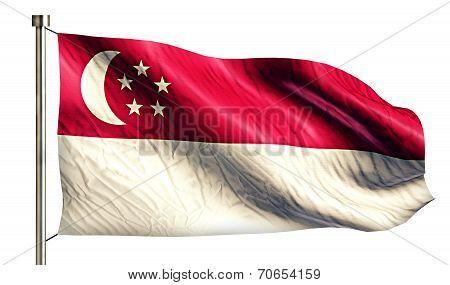 Singapore National Flag Isolated 3D White Background