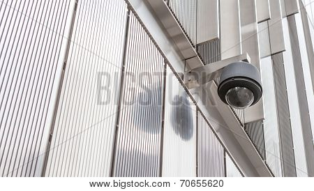 Security Camera, Cctv In Front Of The Building