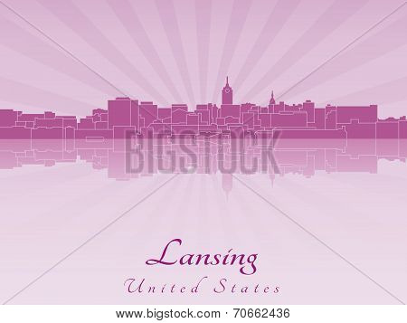 Lansing Skyline In Purple Radiant Orchid