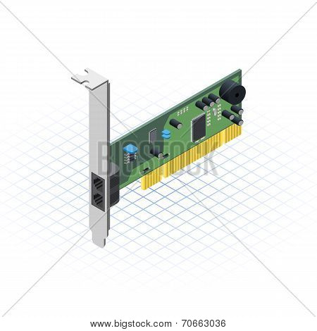 Isometric Network Card