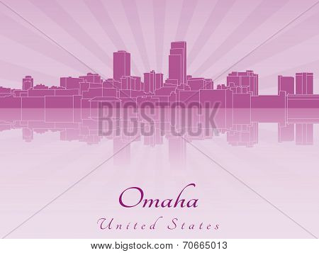 Omaha Skyline In Purple Radiant Orchid