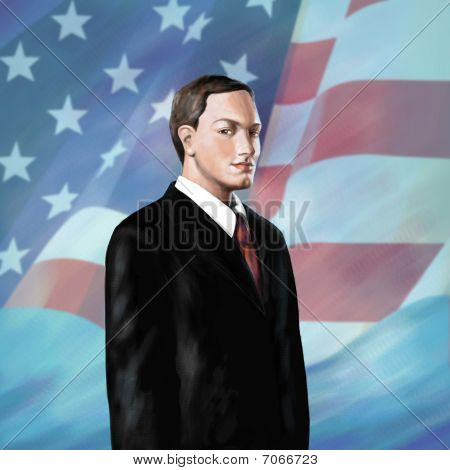 Illustration Of Serious Politican