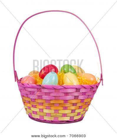 Easter Basket With Plastic Eggs